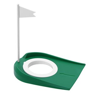 Fanion et Putting Cup Golf Kit Plastique Coupe Trou Ajustable pour Entraînement Putter