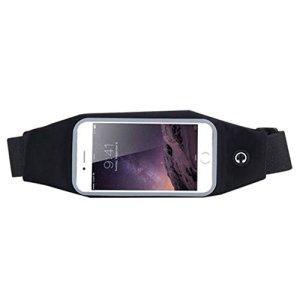 Forfar Sac de taille Case Cover Sports de plein air étanche Sac de taille cas de couverture iPhone6Plus 5,5 « » pouces à écran GalaxyS6 bord + GalaxyS7 bord + XperiaZ3 + / Z3 / Z2