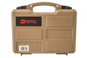 Mallette pour arme de poing tan – Nuprol