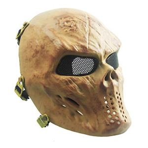 Sensong Masque Airsoft Protection Paintball Masque de Squelette Crâne Complet Tactique CS Jeu Halloween Décoration Cosplay Crâne