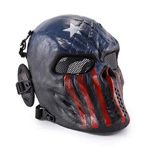 Wwman Masque de protection pour airsoft/paintball en forme de crâne, Captain