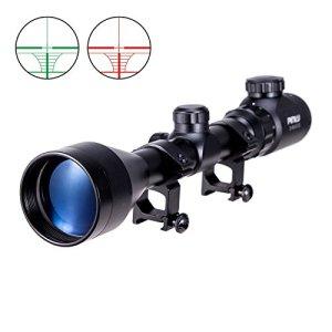 Z ZELUS 3-9x50EG Lunette de Visée pour Fusil Optique avec Réticule, Lunettes de Visée à Deux Points Lumineux Rouge et Vert