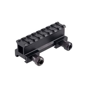 FOCUHUNTER Riser Base Mount Support Adaptateur Rail de Fusil D0015 en Alliage d'aluminium de 21 mm pour Les montages sur Rail Picatinny/Weaver