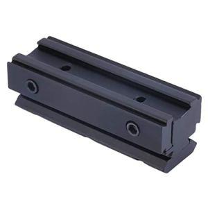 Garciaria Picatinny 11mm à 20mm Adaptateur Convertisseur de Monture de Cadre à Queue d'aronde pour Montage sur Rail de Base pour Lampe de Poche Rifle Laser Sight Gratuit (Couleur: Noir)