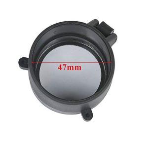 NO LOGO Lixia-Qiang, 30-64 mm Contenu Transparent Fusil Rapide Retourner Spring Open Up Lens Cover Cap Eye Protect Objectif Eye Calibre Pistolet (Couleur : 47mm)