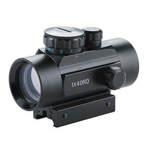 Z ZELUS 1x40mm Lunette de Visée pour Fusil à Réflexes de 20mm avec Point Rouge et Vert, Airsoft Viseur Tactique pour la Chasse