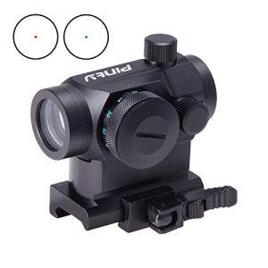 Z ZELUS Lunette de Visée pour Fusil à Réflexes de 20mm avec Point Rouge et Vert, Airsoft Viseur Tactique pour la Chasse