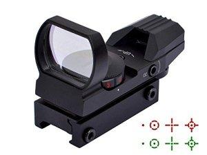 Will Outdoor avec Rails de 20 mm Viseurs à Points Rouges et Verts avec 4 Lignes de Marquage Réglables