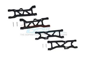 GPM Arrma 1/10 KRATON 4S BLX Upgrade Pièces Aluminium Front & Rear Lower Arms – 4Pc Set Black