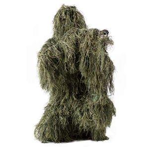 VIVO Ghillie Costume Camouflage XL/XXL Chasse de la forêt de Camouflage des Bois de 4 pièces + Sac (OutD-v001xl)