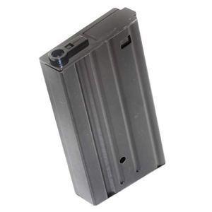 generica Airsoft Spare Parts 420rd Winding Hi-Cap Magazine for pour SR25 AEG Black Noir