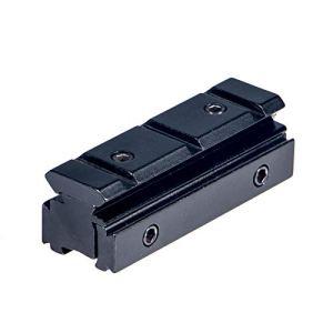 ToopMount Portée Tactique du Rail de Fusil Base du Rail de tir en Aluminium 11mm à 20mm Support d'adaptation Amovible pour Montage sur Rail Picatinny/Weaver