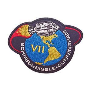 Cobra Tactical Solutions Military Patch en APOLLO VII SCHIRRA EISELE CUNNINGHAM NASA Patch avec Fermeture Velcro pour Airsoft/Paintball pour vêtements Tactiques et Sac à Dos