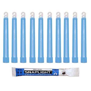Cyalume Bâton lumineux bleu SnapLight Glow Sticks 15cm, Light Sticks très lumineux avec durée de 8 heures (Boite de 10)