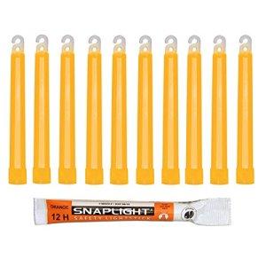 Cyalume Technologies- Carton de 500 Bâtons Lumineux Snaplight- 15 cm- 6»- Orange- 12 heures