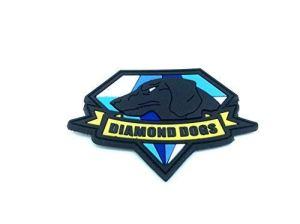 Diamant Chiens en métal Gear Solid Cosplay Airsoft Patch en PVC