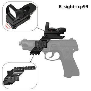 FIRECLUB 1X22X33 Sight Scope Reflex Sight 20mm 22mm with 7/8″ Weaver & Picatinny Glock 17 5.56