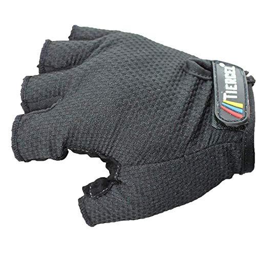 JIAHE115 Mini gants de cyclisme printemps/été Gants de vélo de vélo absorbant les impacts et résistance à l'usure Antidérapant Unisexe Rouge, L (Couleur : Noir, Taille : L)