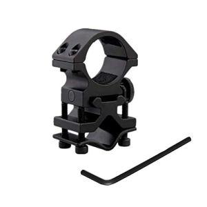 WINDFIRE Anneau Réglable de 25 mm et Support de Canon Universel pour Montage sur Rail de 20 mm pour Torche de Chasse Tactique, Lampe de Poche Airsoft