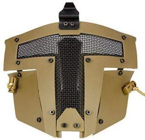 ZCP AF Rapide Casque Accessoires – Cool Paintball Full Face Acier Mesh Protection Sparta Masque Tactique,Tan