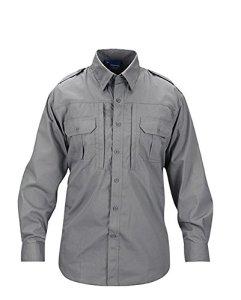 Propper T-Shirt Tactique Classique à Manches Longues pour Homme – Gris, XL