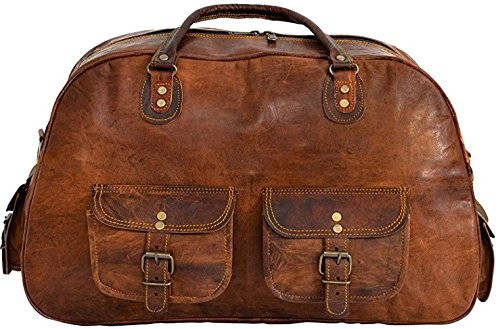 Shakun Leather sac de voyage vintage, sac de sport, sac d'excursion, NOUVEAU