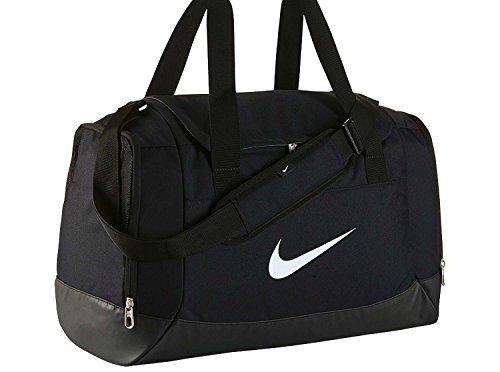 Nike Club Team Swoosh Duffel S Sac de sport grand format, 40 cm, 43 liters, Noir (Schwarz)