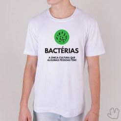 Camiseta Bactérias - Loja Nerd
