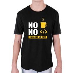 Camiseta NO Coffee NO Code Preta - Loja Nerd