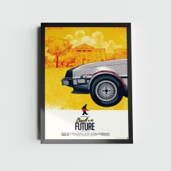 Quadro De Volta Para o Futuro DeLorean I