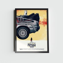 Quadro De Volta Para o Futuro DeLorean III
