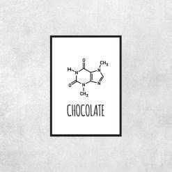 Placa Decorativa Chocolate - Loja Nerd