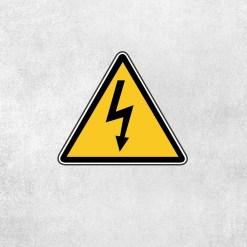 Placa Decorativa Cuidado Eletricidade - Loja Nerd