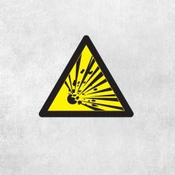 Placa Decorativa Cuidado Explosivos - Loja Nerd