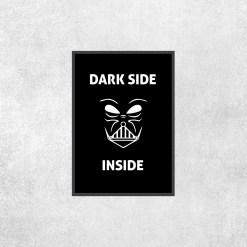 Placa Decorativa Star Wars - Dark Side Inside - Loja Nerd
