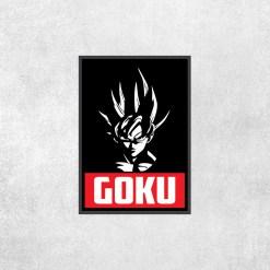 Placa Decorativa DBZ - Goku Preto - Loja Nerd