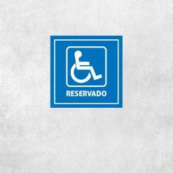 Placa Decorativa Reservado - Loja Nerd
