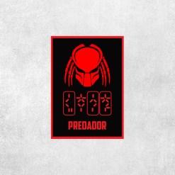 Placa Decorativa Predador - Loja Nerd