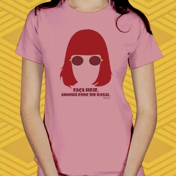 Camiseta - Rita Lee - Baby Look