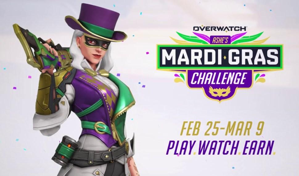 Ya están disponibles el desafío Mardi Gras de Ashe y el modo Experimental de Overwatch