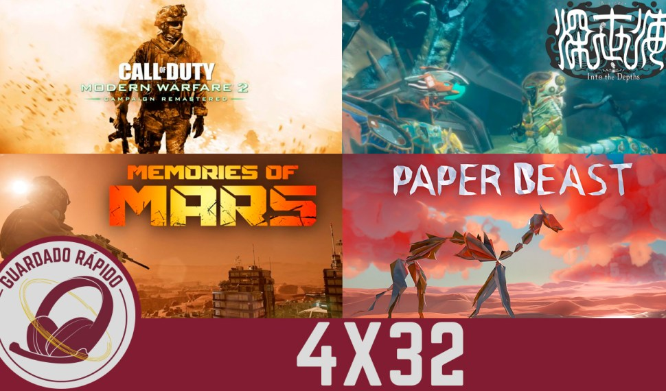 GR (4×32) Resident Evil 8, PS5, Modern Warfare 2 Remastered, Shinsekai into The Depths, Memories of Mars y Paper Beast