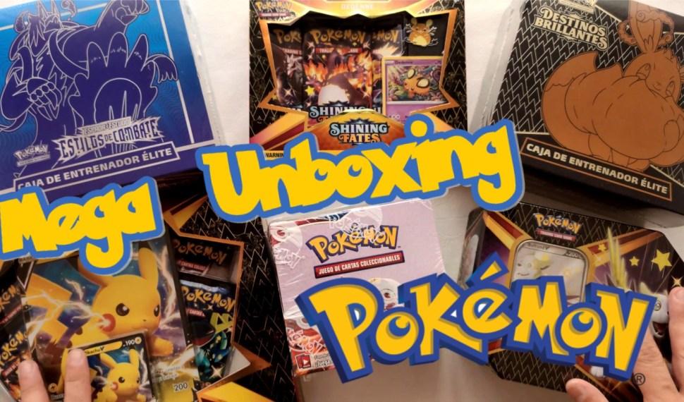 Mega Unboxing – Pokemon Destinos Brillantes y Estilos de Combate