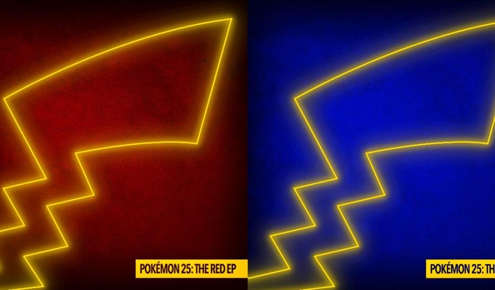 Anunciado Pokémon 25: The Red EP y Pokémon 25: The Blue EP