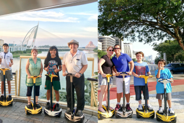Riding a segway is a different, fun and safe way for all in the family to experience Putrajaya, Malaysia!