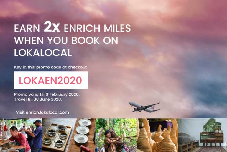 Earn 2x Enrich Miles when you book LokaLocal activities & tours