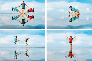 Sky Mirror Photography Tips: 14 Poses to Try With Your Friends - LokaLocal