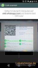Mit dem Smartphone den QR-Code von Monitor abscannen.
