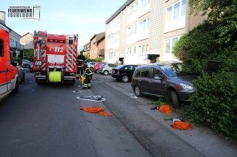 Von diesem Fahrzeug wurde der Mann beim Wendemanöver überrollt. Foto: Feuerwehr Iserlohn