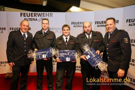Ehrung für 10 Jahre: UBM Christian Dencker LG Mühlendorf, UBM Hendrik Weber LG Knerling, UBM Benjamin Andreas LG Drescheid, UBM Patrick Slatosch LG Rahmedetal.