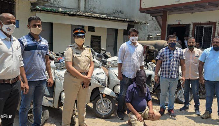 मुलुंड पोलिसांनी मोटार सायकल चोरी करणाऱ्या सराईत इसमास केले अटक..